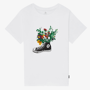 Футболка Converse FLOWERS ARE BLOOMING TEE WHITE