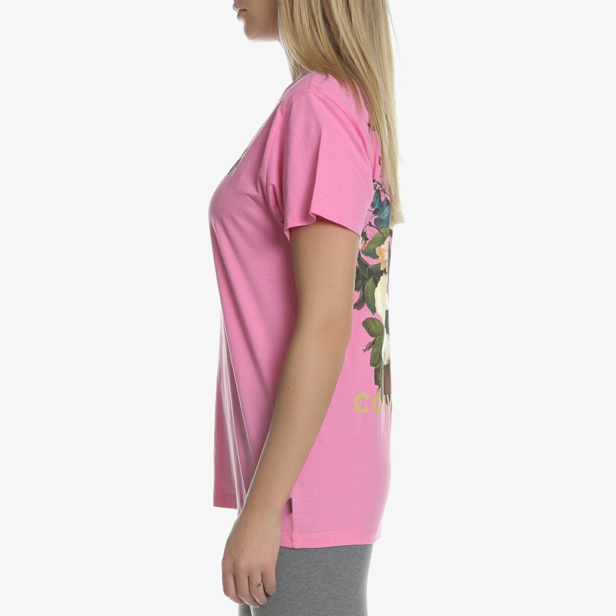 Футболка Converse BBALL FLORAL TEE PINK