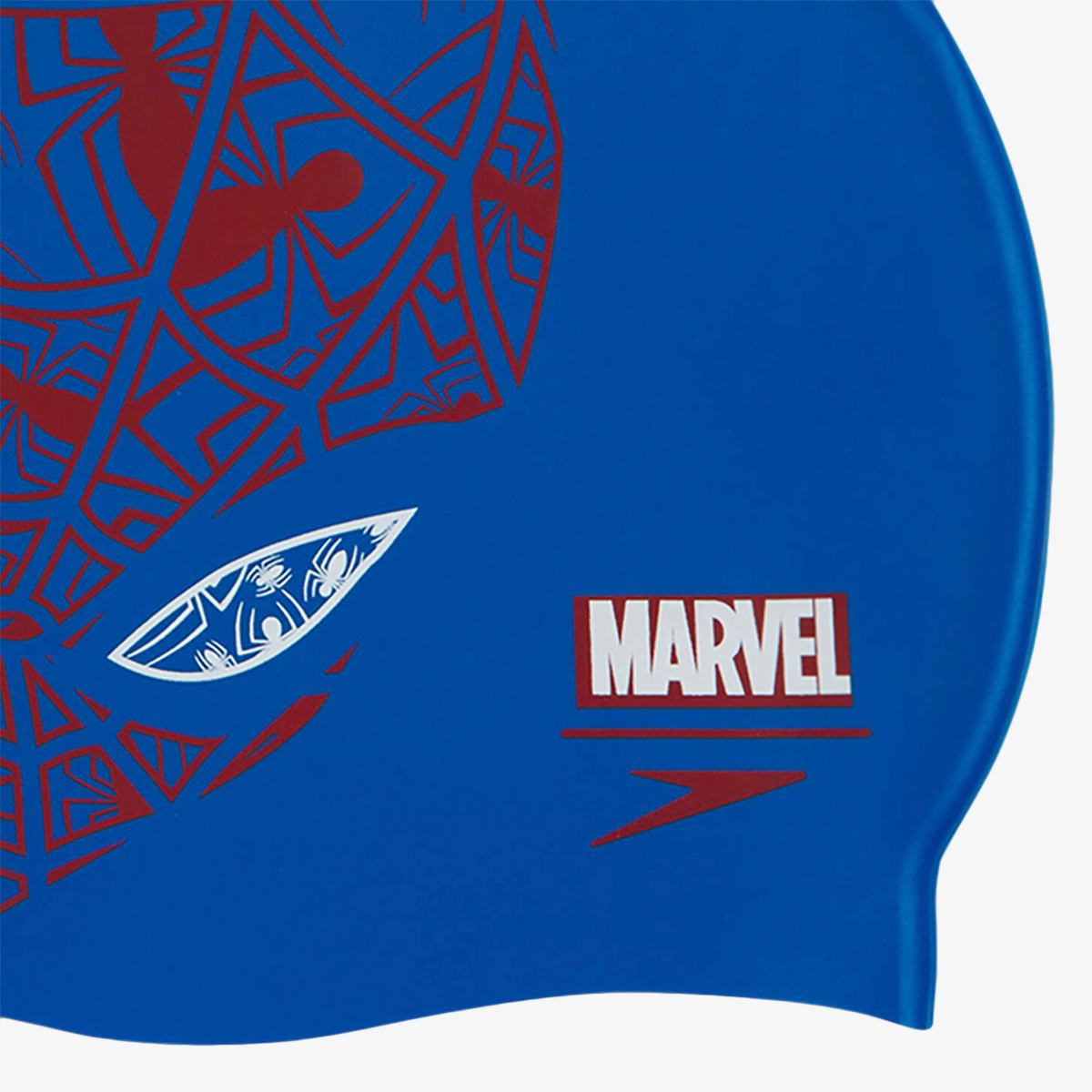Шапочка Speedo SLOGAN PRT CAP JU BLUE/RED