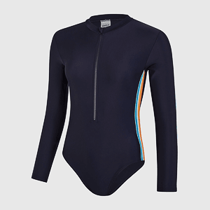 Купальник Speedo LS WRAP BACK 1PC AF NAVY/ORANGE