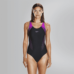 Купальник Speedo FIT LNBK AF BLACK/PURPLE