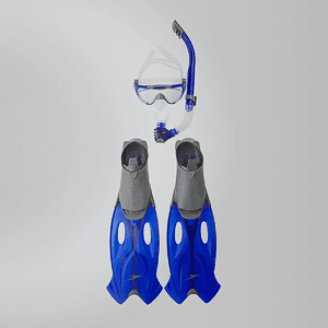 Набор Speedo GLIDE MASK SNORKEL FIN SET AU GREY/BLUE