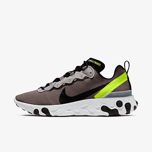 Кроссовки NIKE React Element 55 Pumice Black Volt