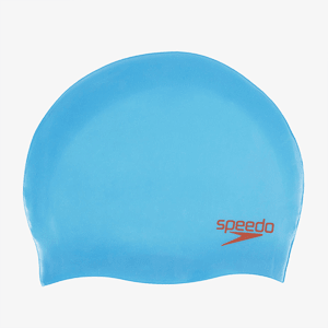 Шапочка Speedo PLAIN MOULDED SILC CAP JU BLUE/RED