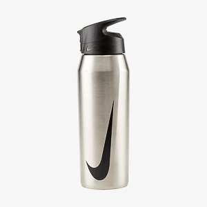 Бутылка NIKE SS HYPERCHARGE STRAW BOTTLE 32 OZ BRUSHED STAINLESS STEEL/ANTHRACITE/BLACK 32OZ
