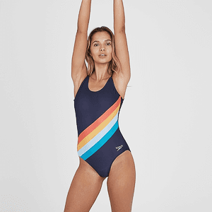 Купальник Speedo PLMT U-BK 1PC AF NAVY/ORANGE
