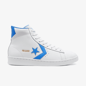 Кеды Converse PRO LEATHER MID WHITE/COAST BLUE/WHITE