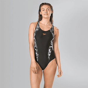 Купальник Speedo FIT LNBK AF BLACK/WHITE