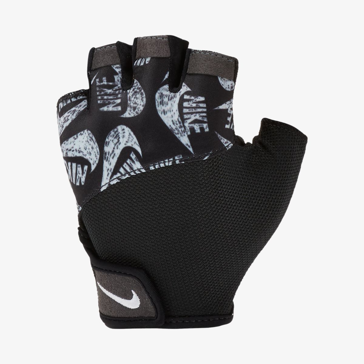Перчатки для тренинга NIKE WOMENS PRINTED GYM ELEMENTAL FITNESS GLOVES BLACK/BLACK/WHITE M