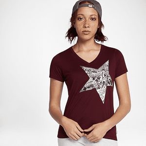 Футболка Converse BLOCKED FLORAL TYPE FEMME TEE PALE PUTTY