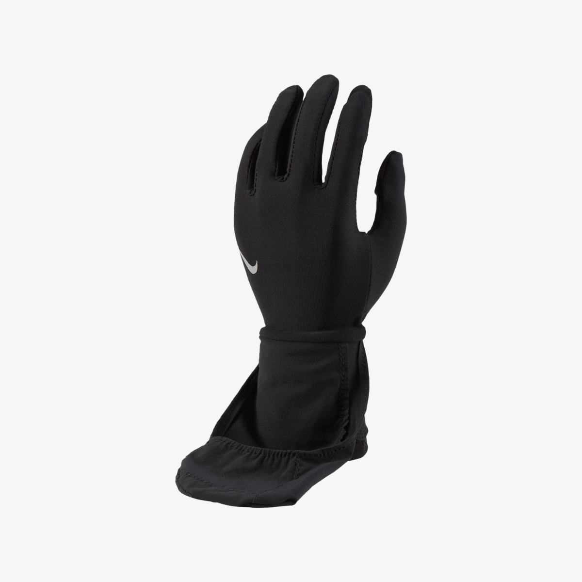 Перчатки для бега NIKE WOMENS TRANSFORM RUNNING GLOVES BLACK/BLACK/SILVER L