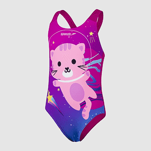 Купальник Speedo DIGI PLMT APPLIQUE 1PC IF PURPLE/PINK