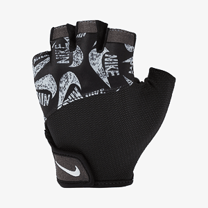Перчатки для тренинга NIKE WOMENS PRINTED GYM ELEMENTAL FITNESS GLOVES BLACK/BLACK/WHITE L